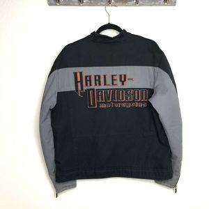 Harley Davidson Quilted Lining Embroidered jacket